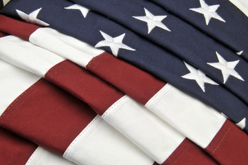 Closeup of an American flag