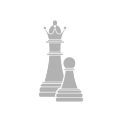 Simple icon chess pawn with the queen.