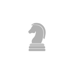Simple icon chess horse.
