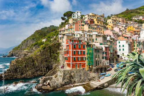 Town on the rocks Riomaggiore Liguria Italy