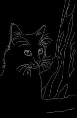 Кот силуэт