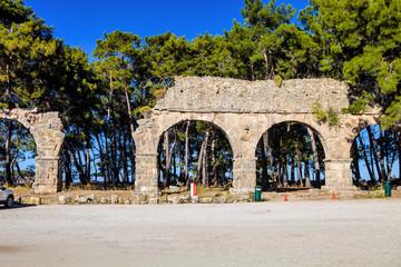 Roman arches rum in Phaselis, Turkey