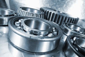 titanium and steel ball-bearings, used in aerospace industry