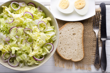 Lettuce. Vegetarian food, light snacks.