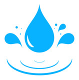 Fototapety icon with blue water drop