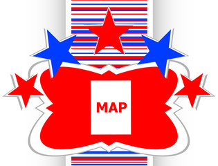 map icon web button with map vector