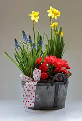 Spring floral basket