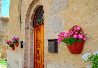 picturesque building in San Gimignano