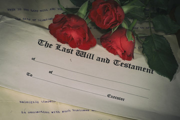 Last will and testament and roses