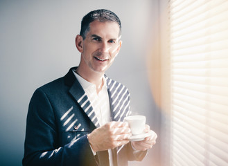 businessman with cup of coffe