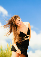 Happy smiling woman outdoor