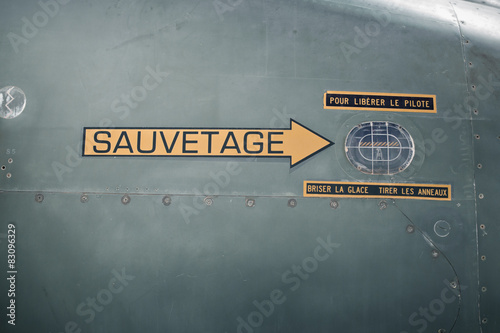 Sauvetage avion Poster