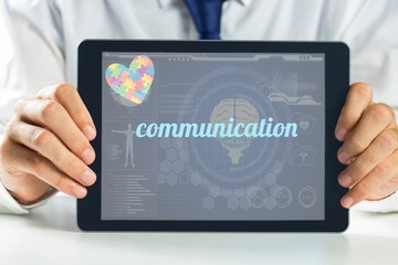 Communication against medical biology interface in blue