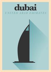 Dubai City Minimal Poster Design