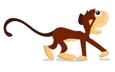 Cartoon Walking Monkey