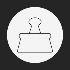 Binder Clip line icon