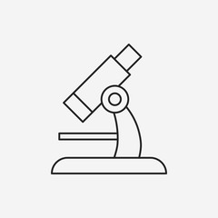 Microscope line icon