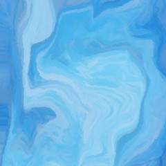Abstract digital painting in blue