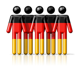 Flag of Germany on stick figure