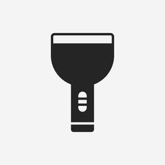Flashlight line icon