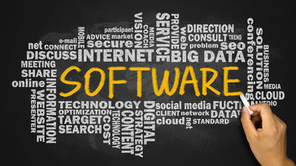 software with related word cloud