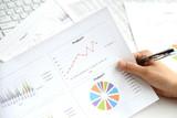 ビジネスイメージ―資料を見るビジネスマンの手元