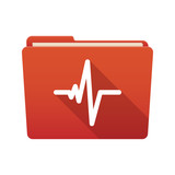 Folder icon with a heart beat sign