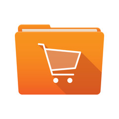 Folder icon with a shopping cart