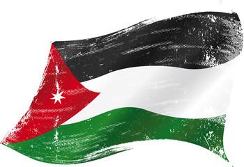 Jordanian grunge flag