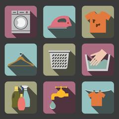 laundry flat icon