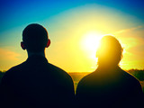Two Persons Silhouette outdoor