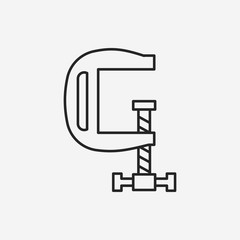 clamp line icon