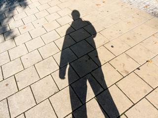 Schatten eines Mannes
