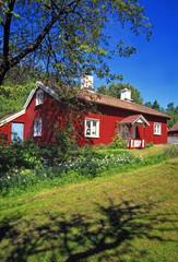 Rött hus.