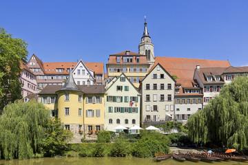 Tübingen - Die historische Neckarfront zu Tübingen, Deutschland.