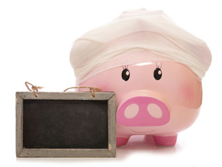 cost of health insurance piggy bank