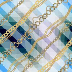 Diagonal nautical pattern.