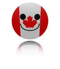 Canada happy icon with reflection illustration