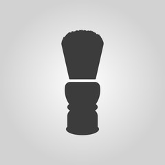 The shaving brush icon. Shaver symbol. Flat
