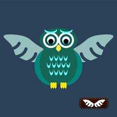 Bird wings abstract vector logo design template. Flying Owl icon
