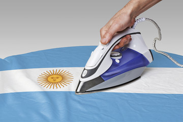 smooth out the wrinkles of Flag-Argentina