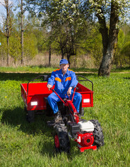 tractor, farmer