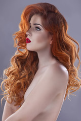 Beautiful, young redhair girl - portrait