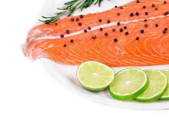 Salmon fillet with pepper citrus.
