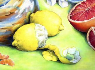 Citrus still-life.
