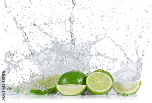 limes-with-water-splash