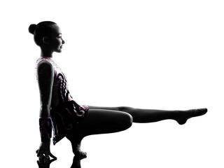 Rhythmic Gymnastics  little girl child   silhouette
