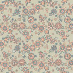 seamless cute retro flower pattern