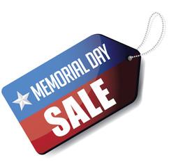Memorial Day sale tag EPS 10 vector