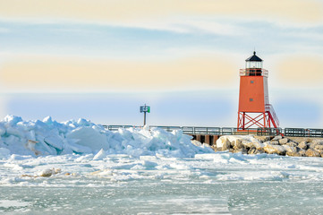 Red Lighthouse Charlevoix